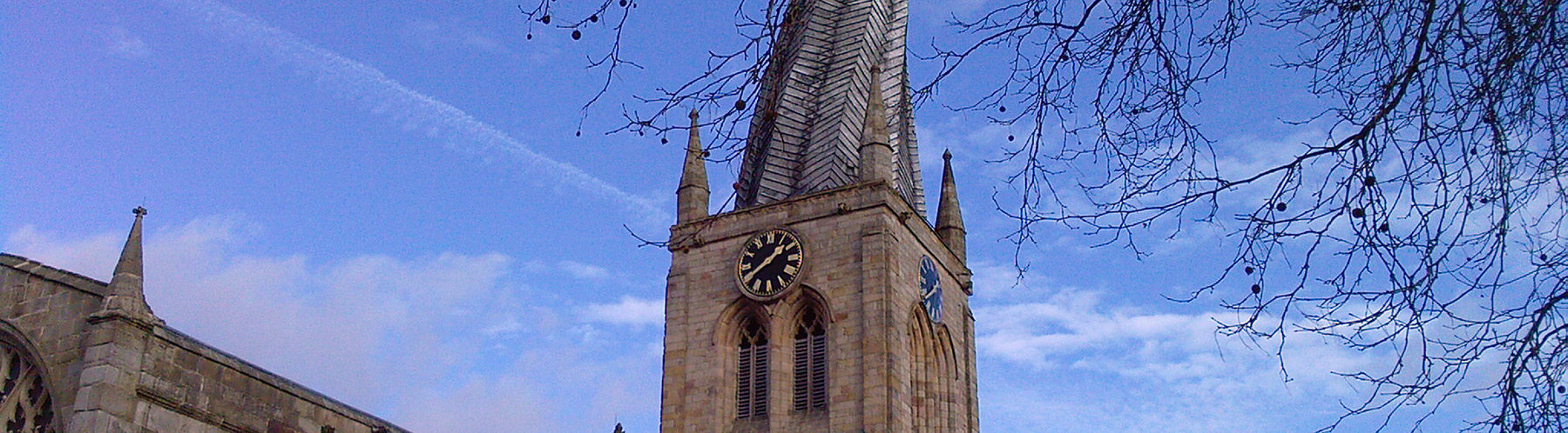 an image of Chesterfield church spire