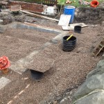an image of the pipework of building foundations being laid