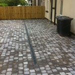 an image of a paved back garden