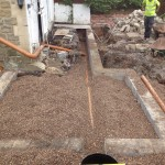 an image of the foundations of a house extension