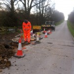 an image of work groundworks being done on the side of the road
