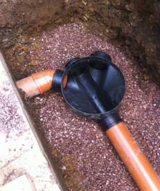New piping to replace cracked pipes