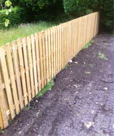 A new fence installed by Wilson laidler