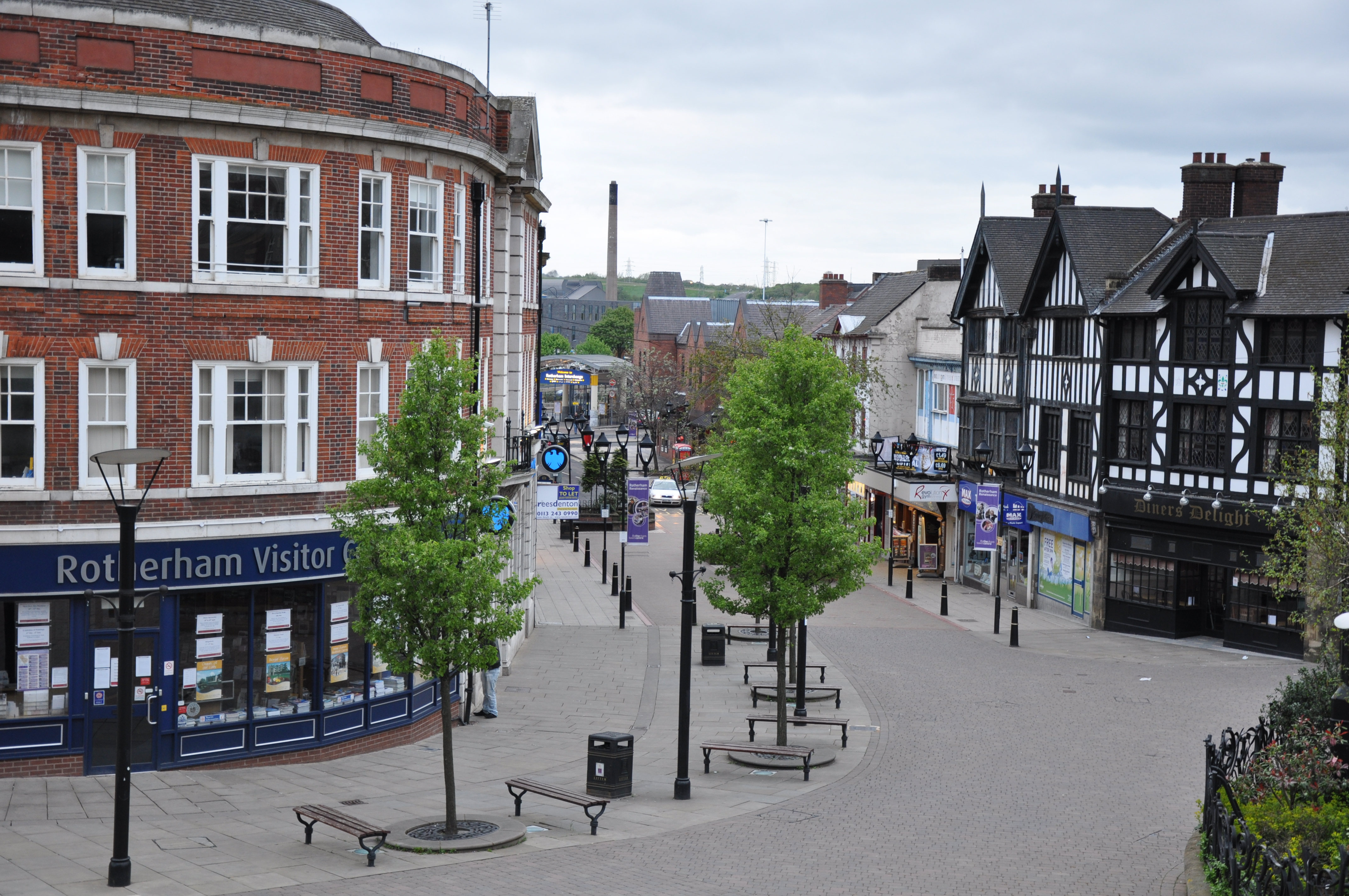 an image of the Rotherham town centre